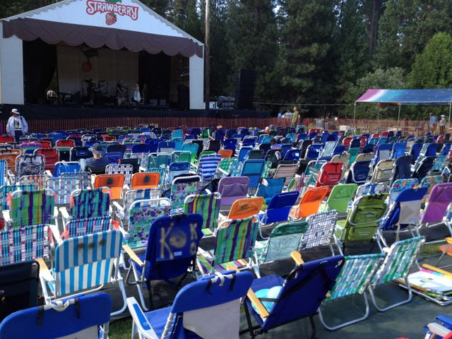 Chairs at Strawberry Festival by Steve Forman